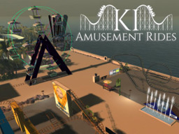 KI Amusement Rides T - Rollercoasters -  Log Flume -  Ferris Wheel